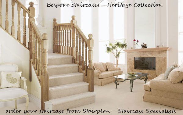 Stairplan Specialise in Bespoke staircases - look at the heritage collection