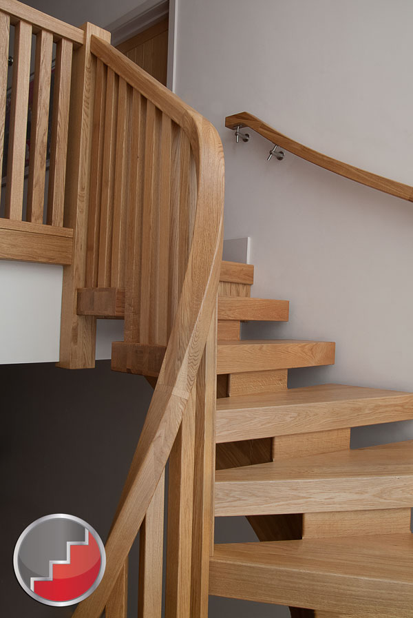 Wreathed oak handrail section precision timber