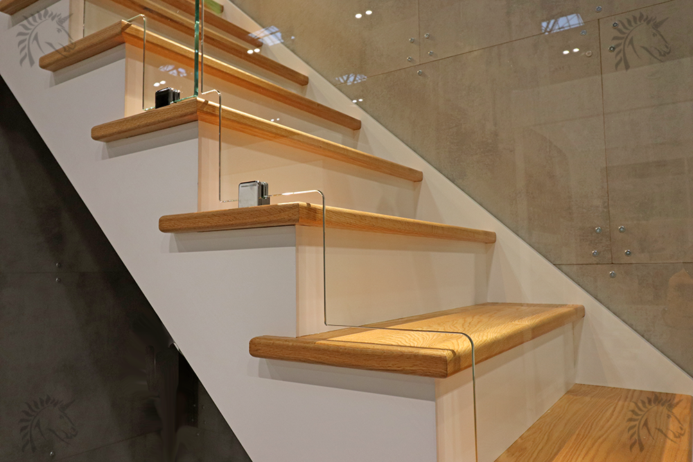 dallas staircase stepped glass detail