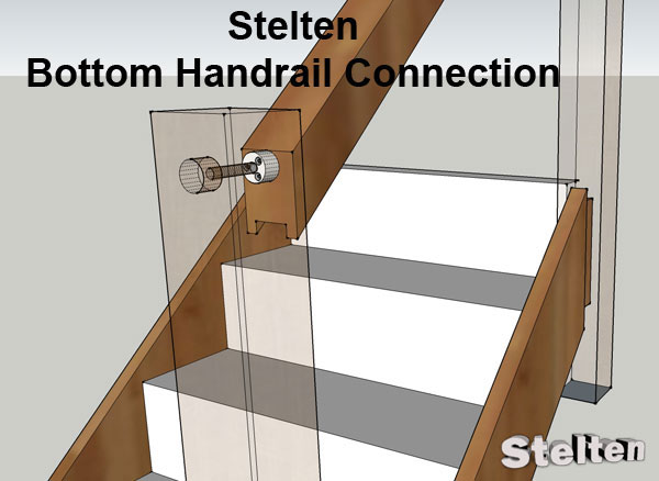 Bottom handrail connection example