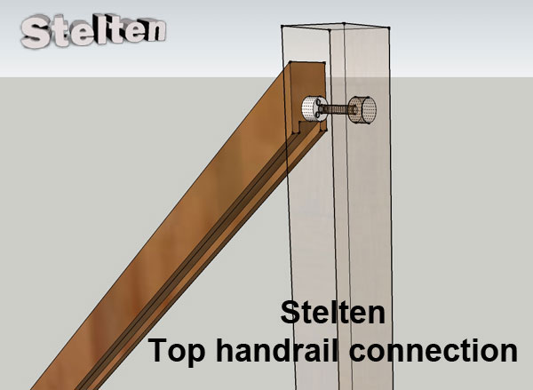 top handrail cut connection example
