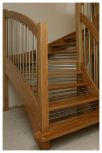Contemporary Oak Openplan with the European style handrail