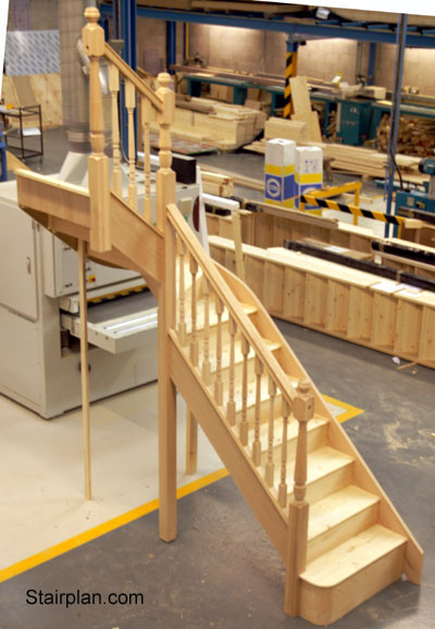 Oak Winder Staircase