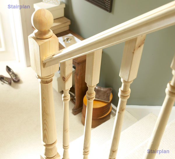 Pine Hallmark Stair parts from Richard Burbidge
