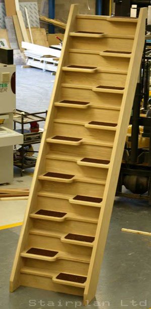 Oak space saving Staircase