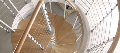 Kloe contemporary spiral staircase
