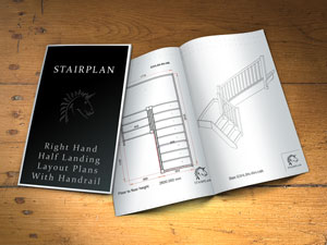 stair builder design half landing plans