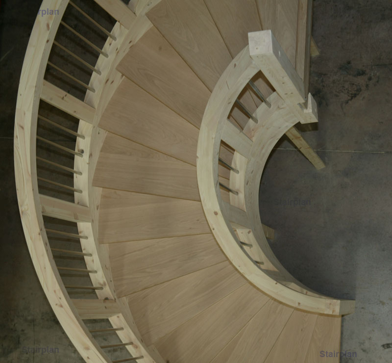 Looking from above the Curved Staircase