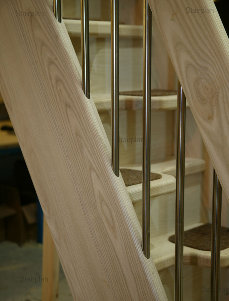 Loft Stairs in Ash quality hardwood