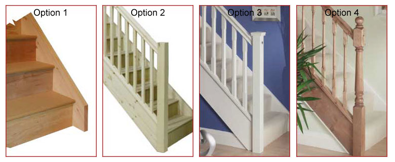 Handaril Ontions for Fix size winder staircases