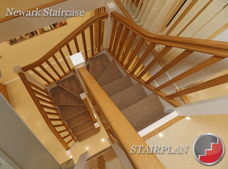 Newark oak winder staircase design