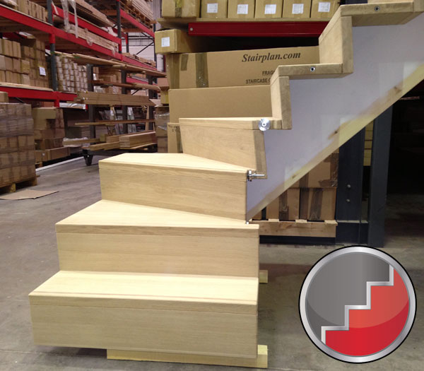 sloaping stair risers