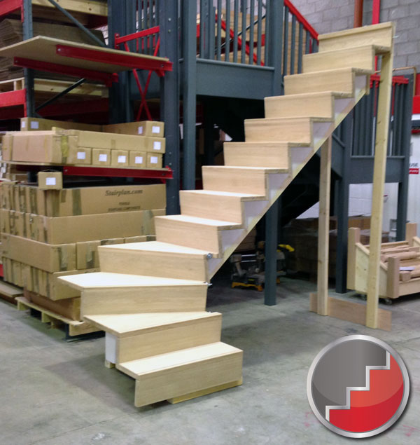 Single Winder Staircase with sloaping risers