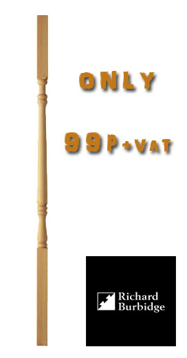 stair spindles from only 99p pine georgian style staircase spindle
