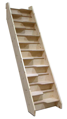 birch 24 Space saver staircase