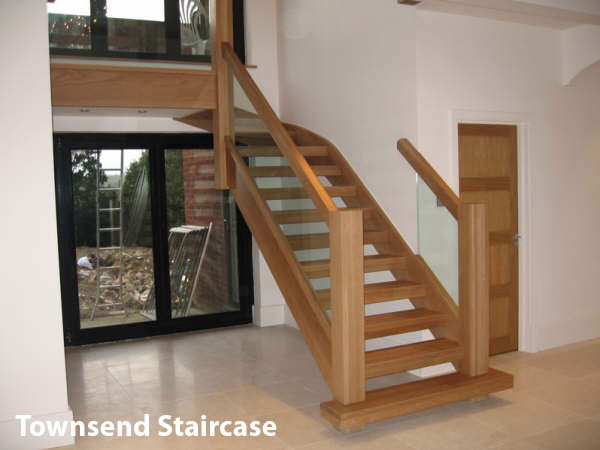 Oak Townsend staircase with open risers