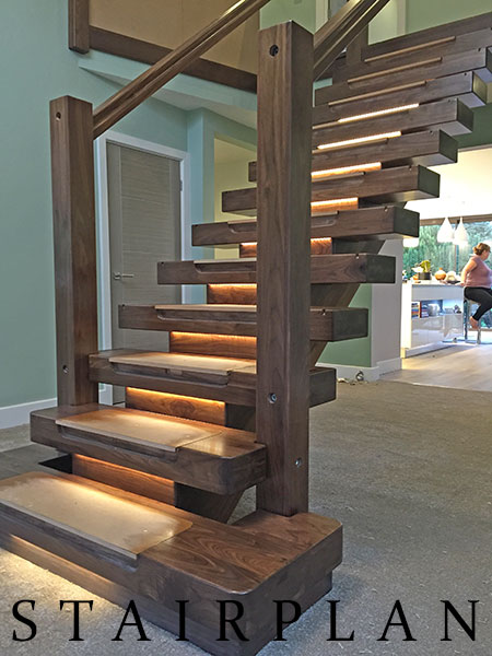 Walnut Staircases Black Walnut X Vision Staircase