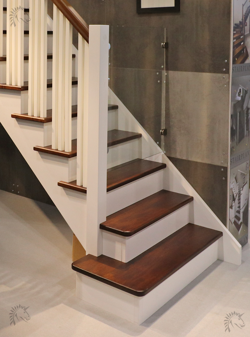 New York Cut String Staircase Black Walnut Treads And