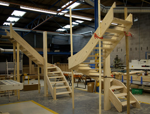 Beech Openplan Winder Staircases