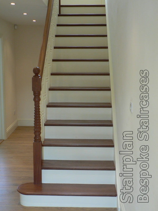 staircase with hardwood treads