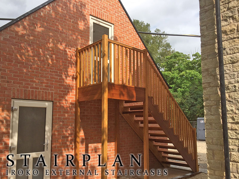 staircases for outside in timber