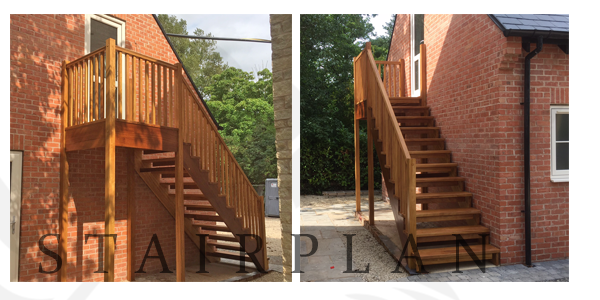 Hardwood staircases for outside