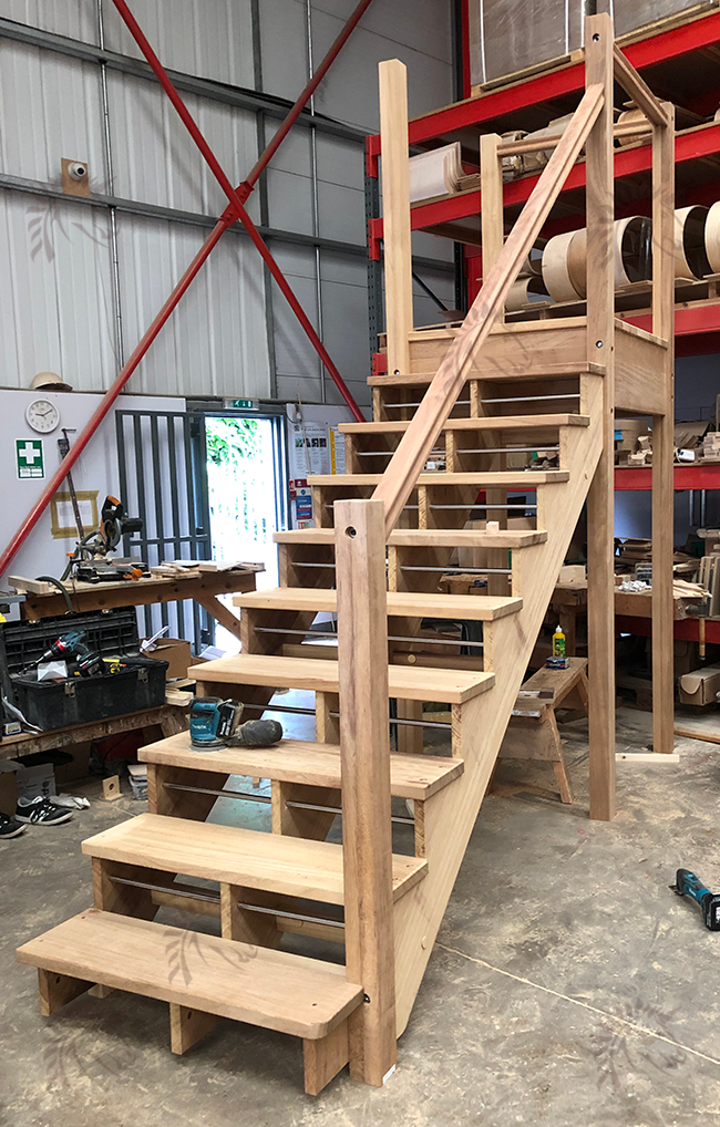 outdoor staircase with centre stair string option iroko