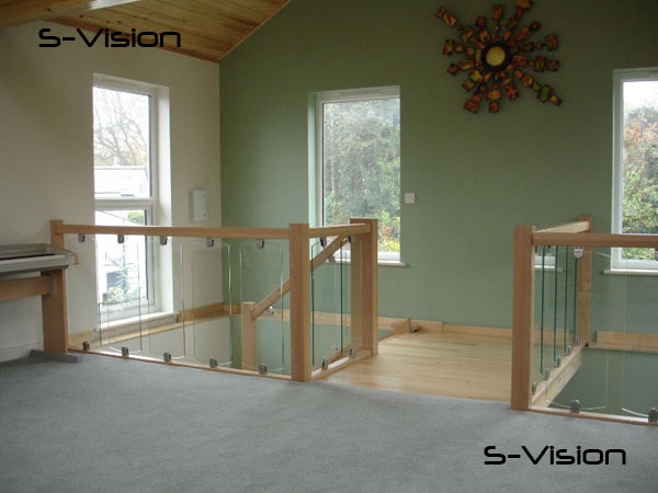 balustrades in glass