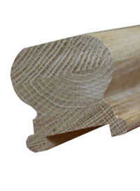 Oak shr handrail 41mm groove