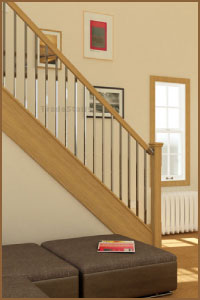 Axxys squared stair handrail system