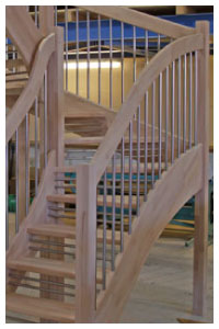 Beech openplan with twin riser safety bars