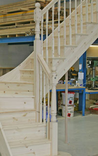craftsmans pine staircase