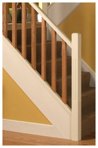 ... Staircase In Pure White Ash, Double Read Spindles And Newel Posts