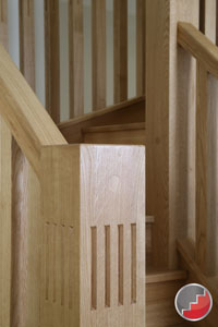 Rustic oak with the Harleck Oak handrail range