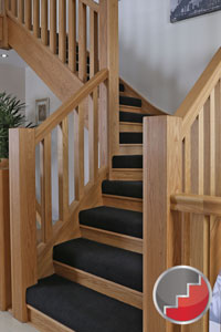 Floating Staircases Waln Townsend Staircase Manhatton With Its Half Height Riser Carpet Detail