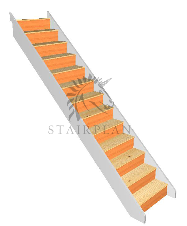 Craftsmans Pine Staircase pre primed stair strings