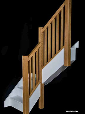 Newark Staircase with Oak Newel Posts