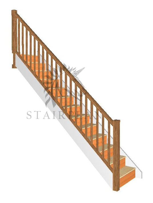 Newark Staircase with Oak Stair balustrade parts