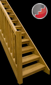 Oak Boston staircase with open risers