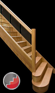 Houston oak handrails