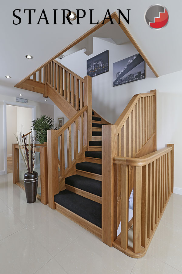 Mnhatton oak staircase with new sair riser design