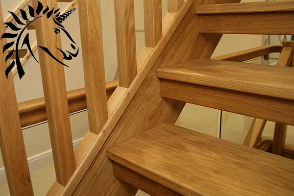 Oak Open Staircase detail