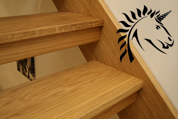 Select Oak Stair treads on the Boston Oak Openplan Staircase