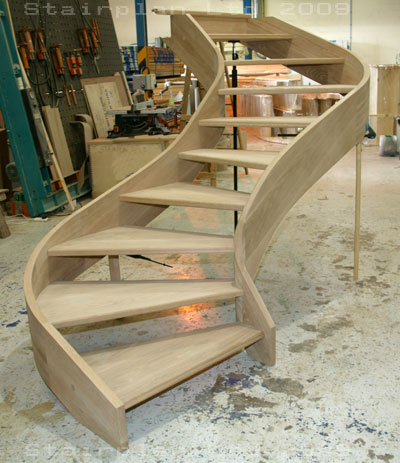 Oak S Curved Staircase
