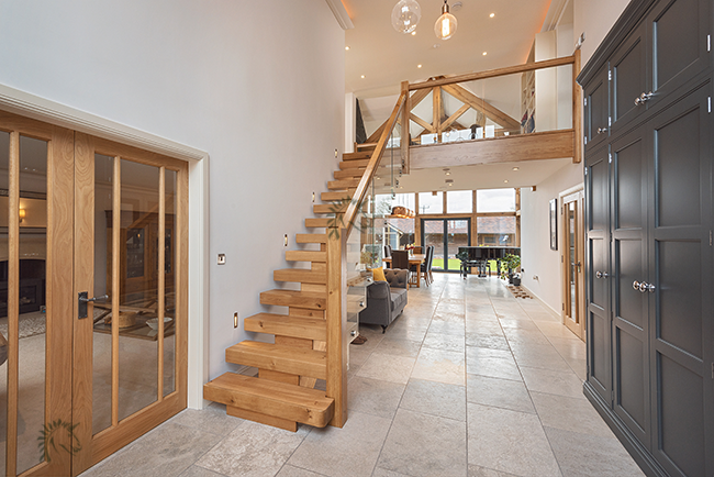 straight oak x-vision-staircase