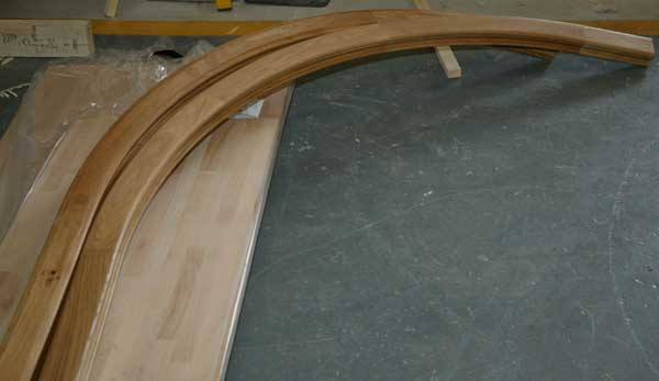 Oak Wreathed handrail sections ready to ship