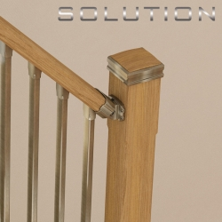 Solution handrail connector