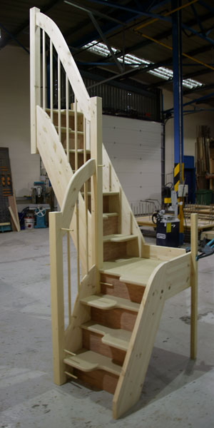 Quarter Landing Spacesaver staircases