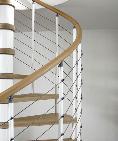 Kloe Spiral Staircase   Above In Silver And Dark