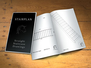 staircase plan drawings straight